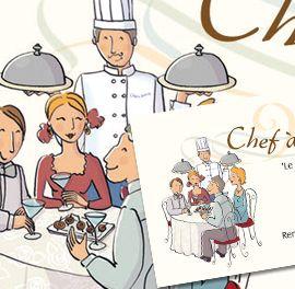 Illustration Chef A Domicile Commande Pour Logo Carte De Visite Flyer Technique Mixte