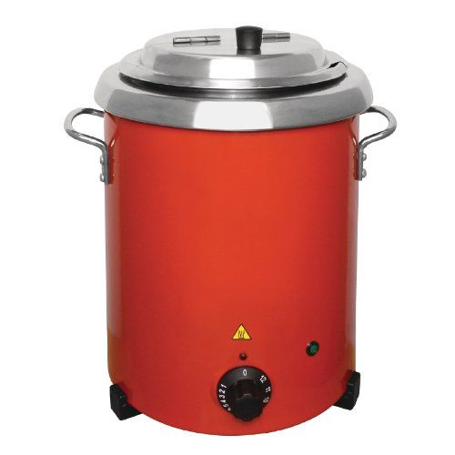 Buffalo Red Soup Kettle With Handles 5 7ltr 348x255mm