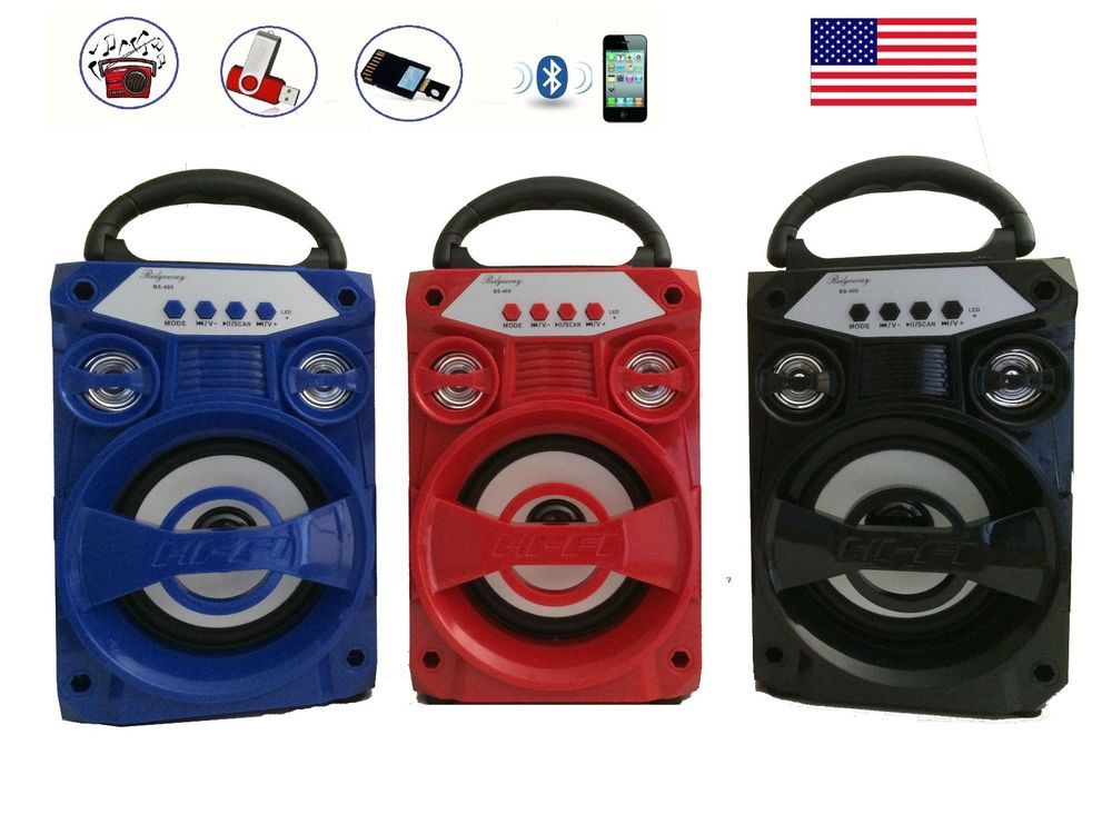 Outdoor Wireless Portable Stereo Super Bass Speaker With USB//TF//AUX//FM Radio US