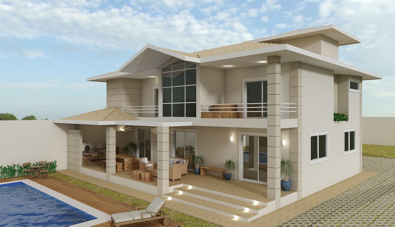 Fachadas de casas estilo americano 4 casa porches de for Fachada de casas modernas y bonitas