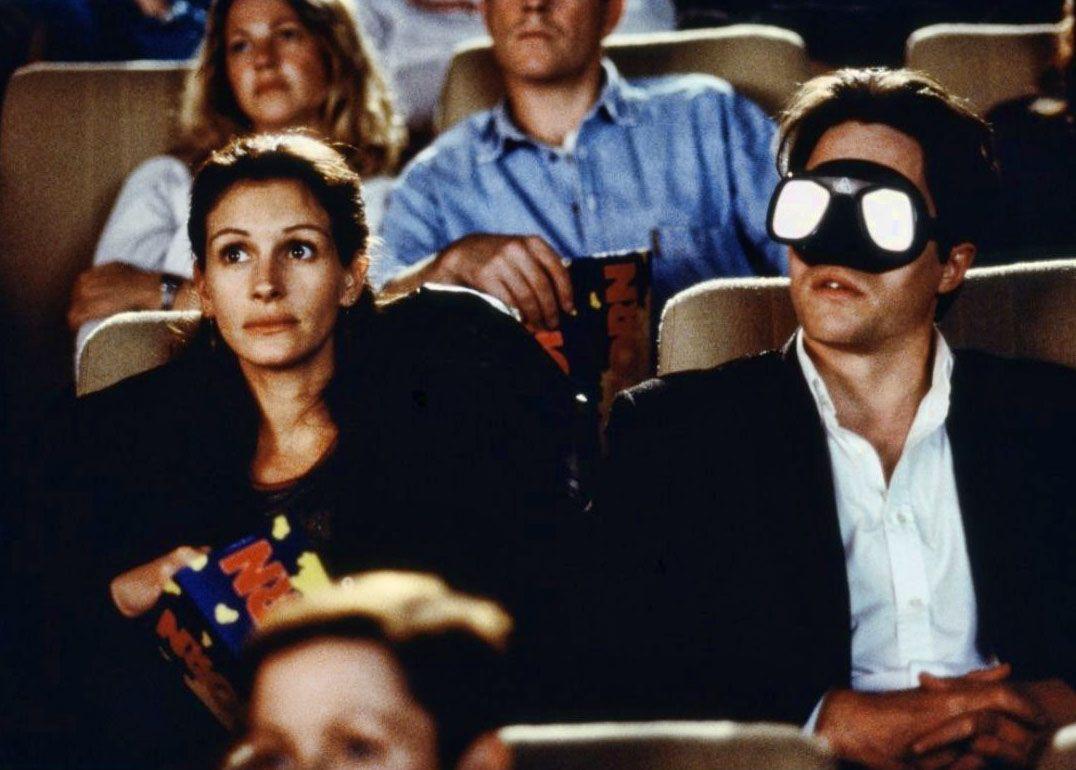 """Julia Roberts y Hugh Grant en """"Notting Hill"""", 1999"""