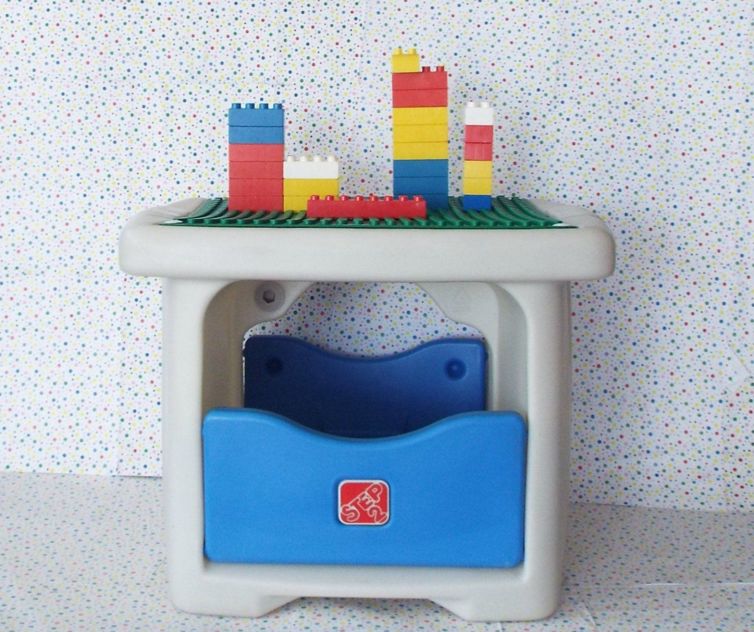 Bon Step 2 Lego Duplo, Mega Bloks, Or Tyco Block Building Block Table With  Storage Compartment Underneath. #ChristmasGift #BuildingToys