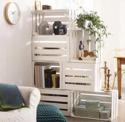 10 idées de projets DIY avec des caisses de bois Boite bois, Boite