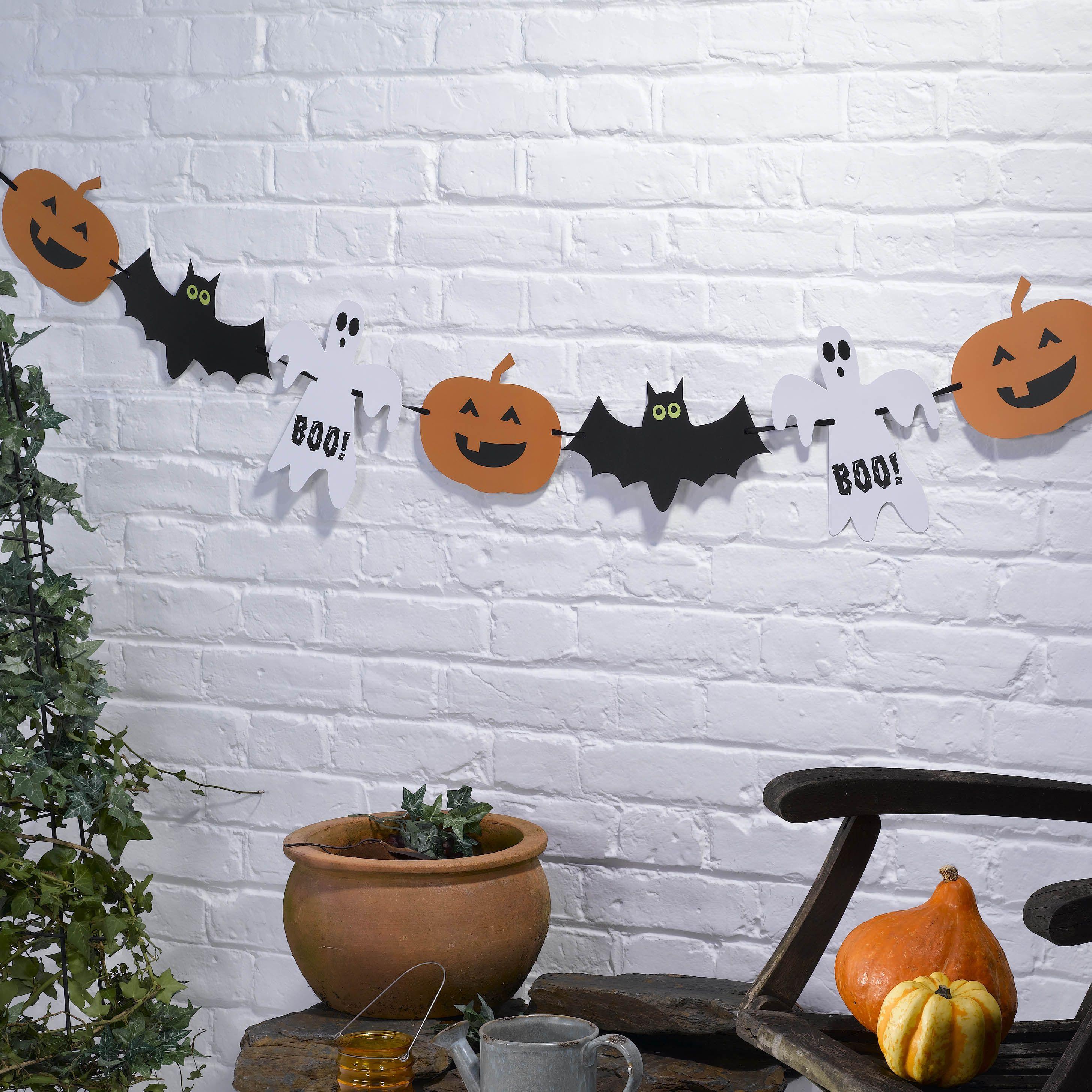 Happy Halloween banner i papir, 3.5 meter http://www.multitrend.no ...