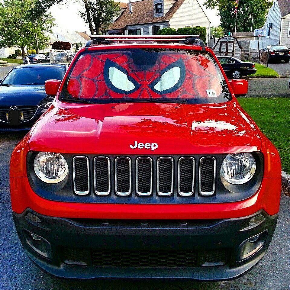 Jeep Renegade Spiderman Sun Shade Jeep Renegade Jeep Renegade