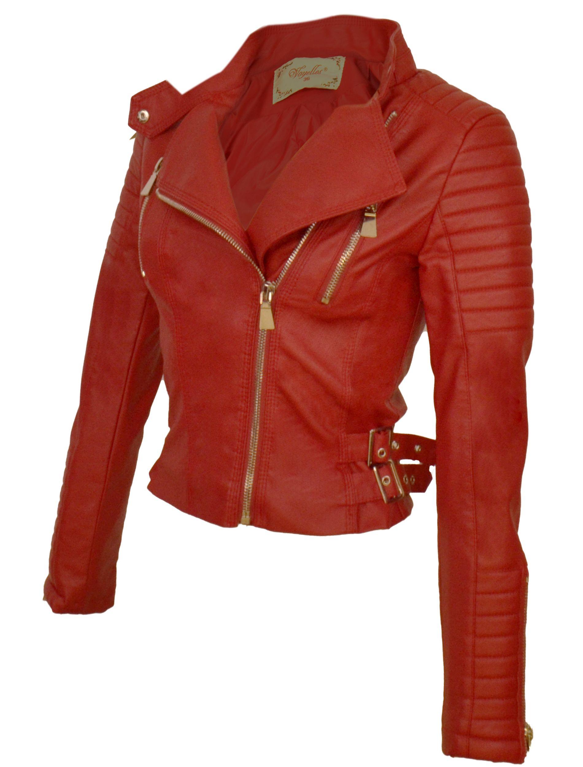 Dames Voor Bikerjack Bikerjack Rode Rode sxrBdthQC