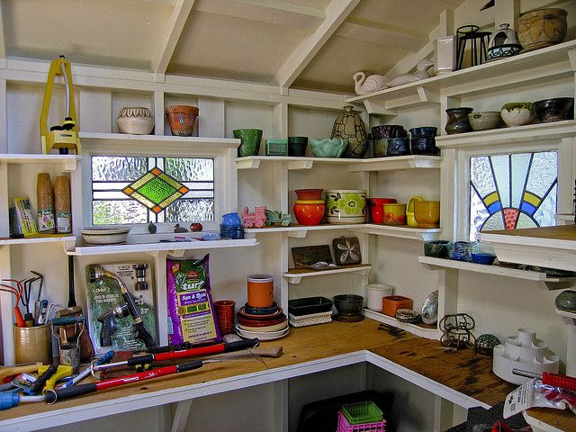 Garden Sheds Inside wish the inside of my shed looked like this! love the windows