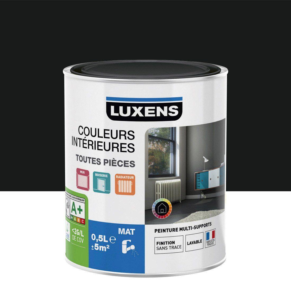 Peinture Multisupports Couleurs Intérieures Mat LUXENS, Noir Noir N°0, 0.5  L |