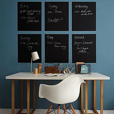 5pcs White board 5pcs Blackboard veggklistremerker, Avtagbart Vaskbart 2015 – kr.175