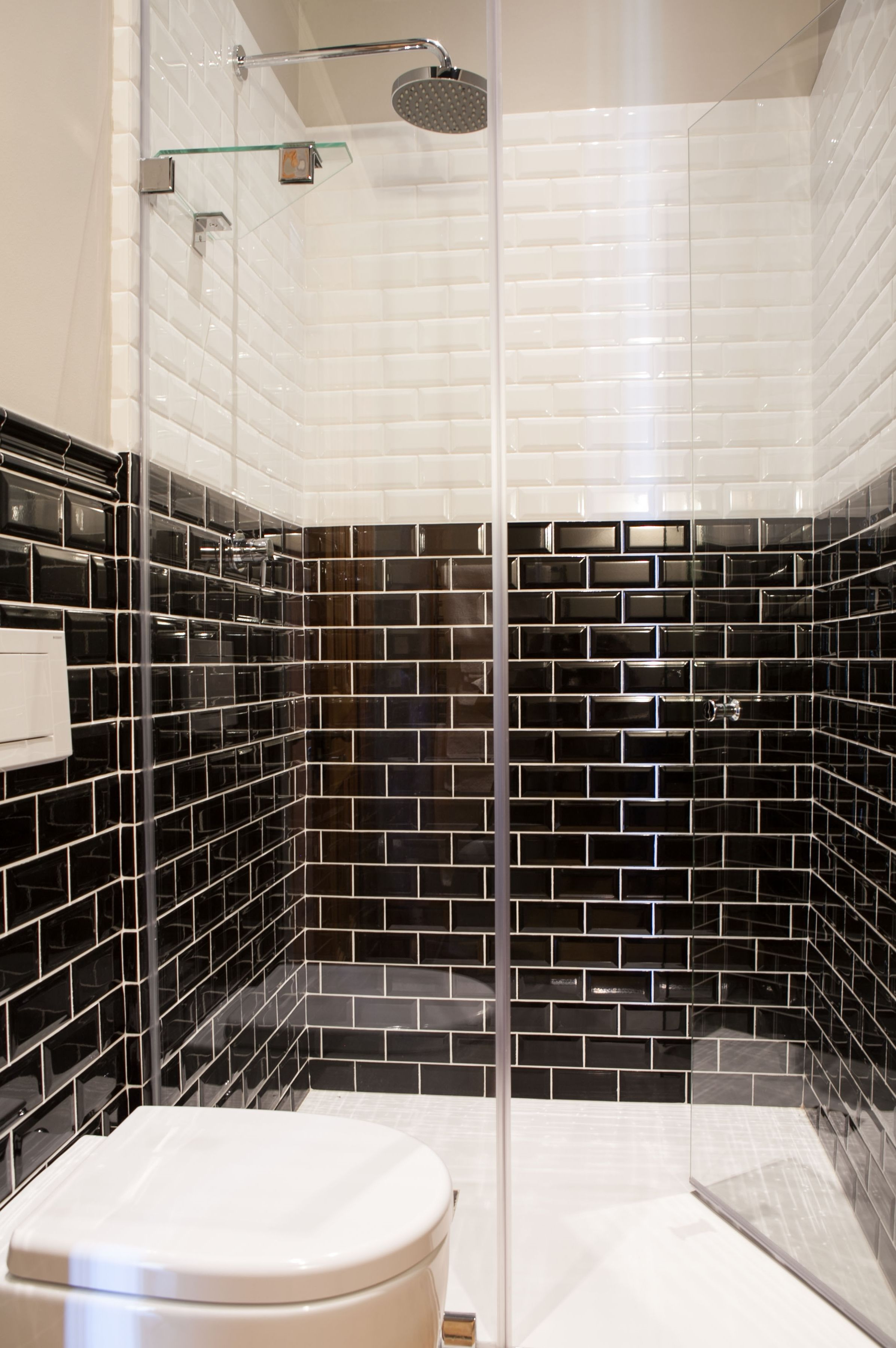 The black and white metro tile follows the classic dado rail the black and white metro tile follows the classic dado rail height doublecrazyfo Gallery
