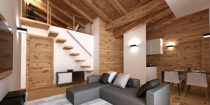 Vendita appartamento in baita di montagna al melezet case for Foto interni baite di montagna