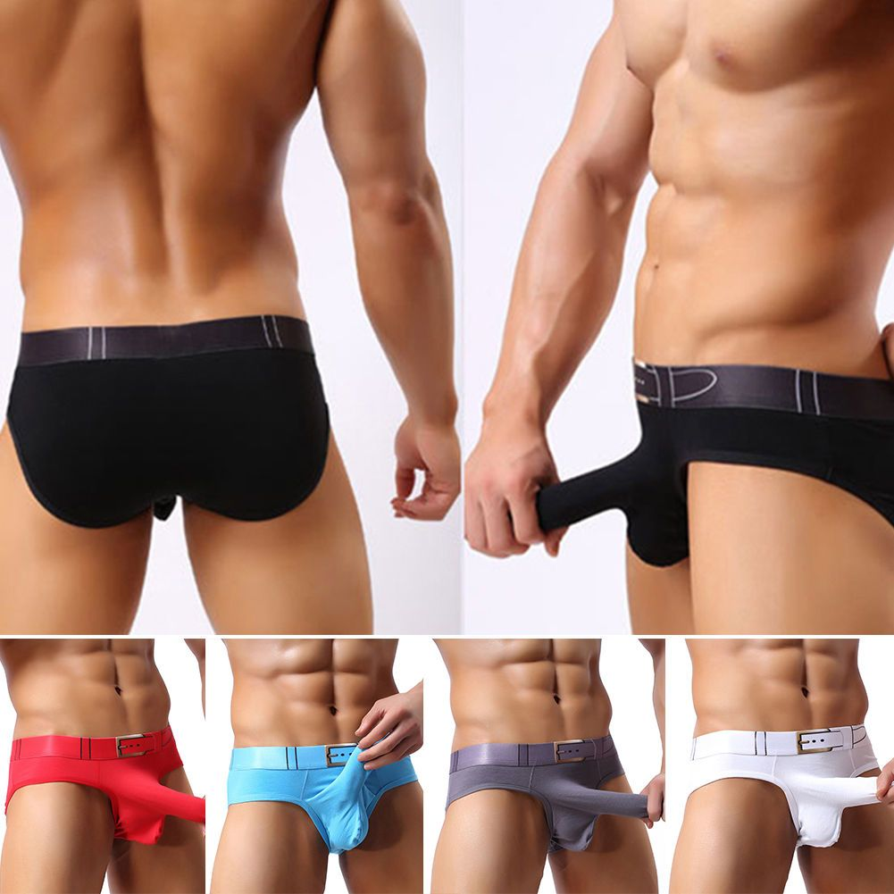 Men Brief Boxer Underwear Bulge Pouch Underpants Shorts Trunks Knickers  Solid DY  46a237f312