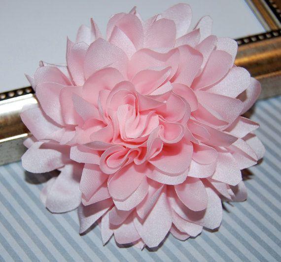 Light soft pink fabric flower 4 large silk pink fabric flower light soft pink fabric flower 4 large silk pink fabric flower flat back dahlia silk flower baby pink mightylinksfo