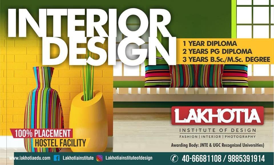 interior design institute in hyderabad university