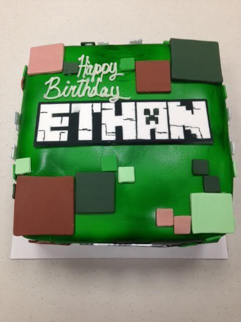Minecraft birthday cake by Frostings Bake Shop
