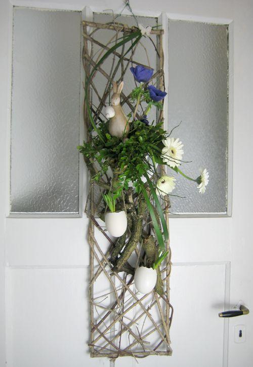 bloemstuk pasen voorjaar deurhanger - Lente   Pinterest ...
