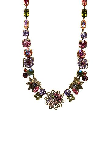 Fresh Floral Necklace with Crystal Clusters in Coneflower by Sorrelli - $172.50 (http://www.sorrelli.com/products/NCD1AGCF)