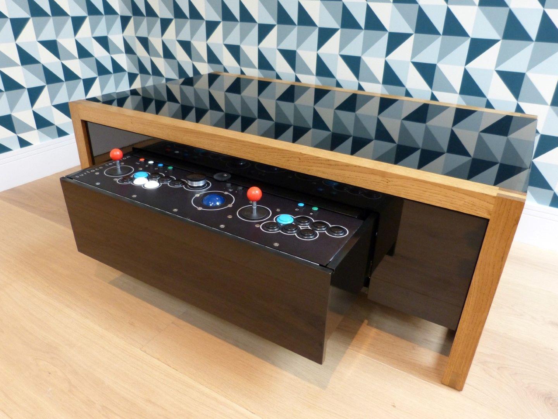 Nucleus Contemporary Decor Living Room Retro Coffee Tables Diy Arcade Cabinet [ 1080 x 1440 Pixel ]