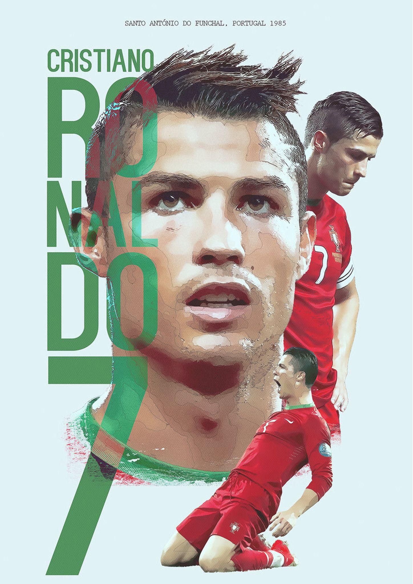 Cristiano Ronaldo 7 Motivation Portuguese Professional Footballer Poster Photo