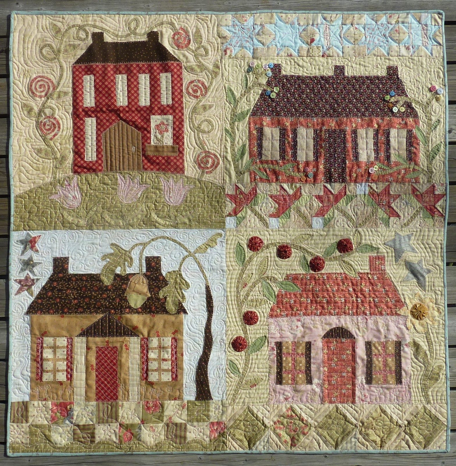 Home Sweet Home Quilt By Summer Louise Truswell Pattern By Barb Adams And Alma Allen Folk