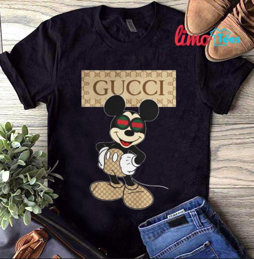 322f1ec57135 Disney Mickey Gucci Shirt Disney Mickey Gucci Shirt, hoodie, tank top and  sweater