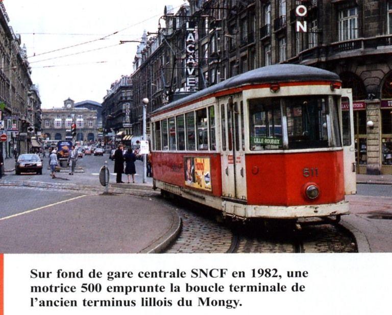 ancien tram tcc pr s de la gare de lille flandres gare tram bus ancien pinterest la. Black Bedroom Furniture Sets. Home Design Ideas