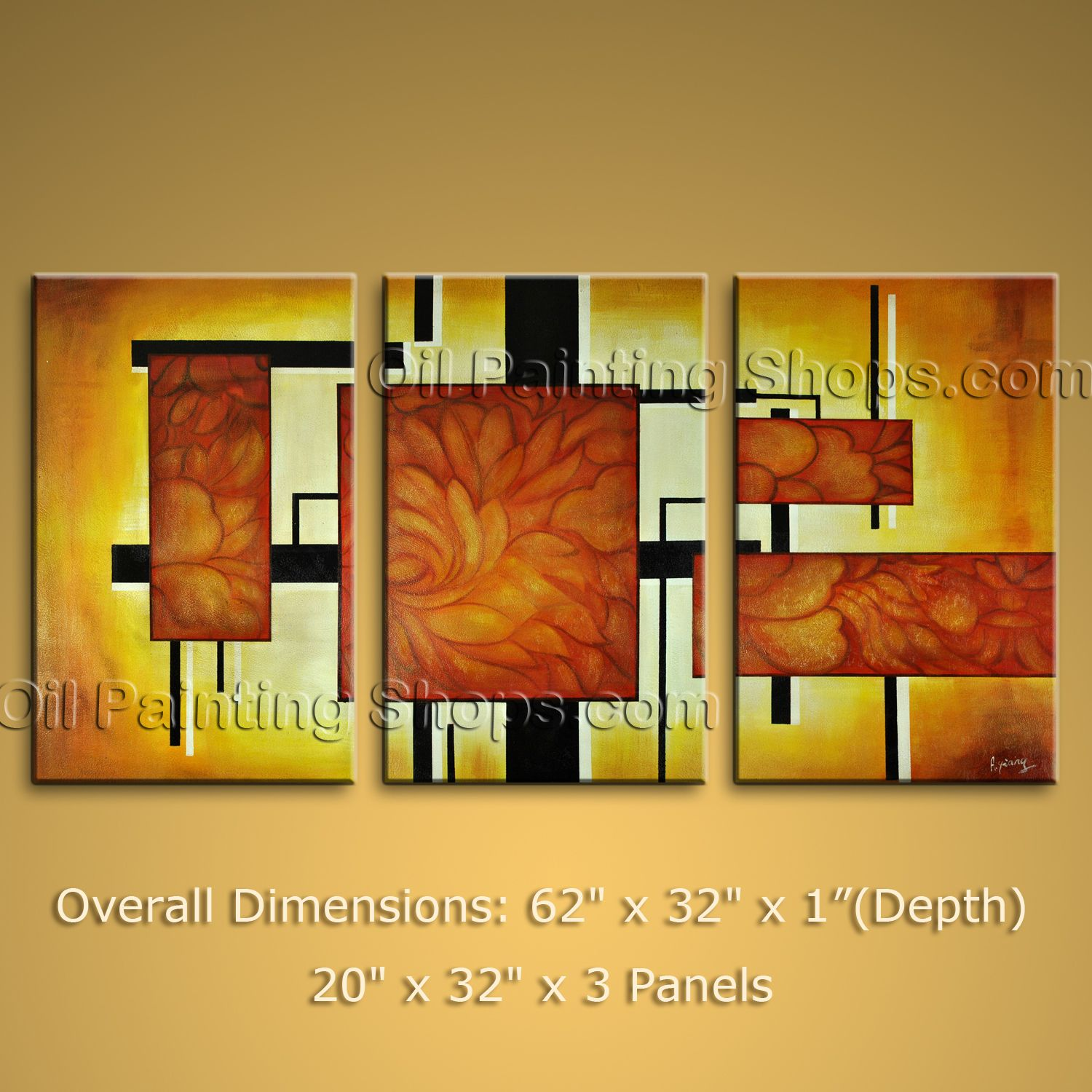 Huge Modern Abstract Oil Painting On Canvas Wall Art Home Decor ...