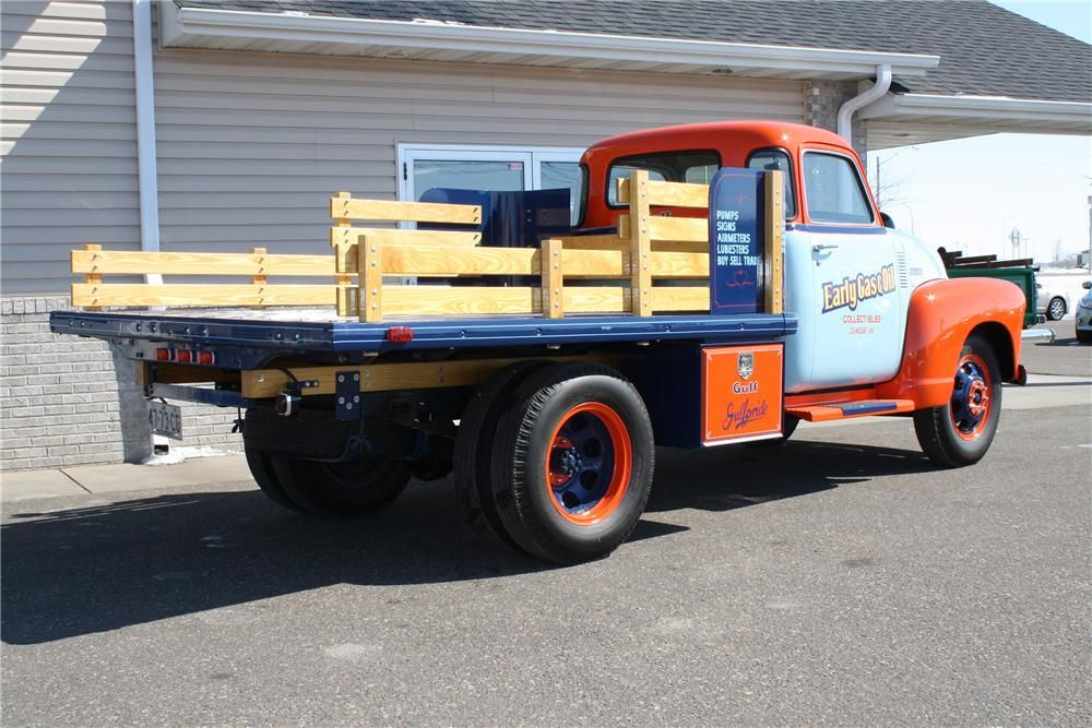 1948 CHEVROLET 1 TON STAKE BED TRUCK Rear 3/4 152103