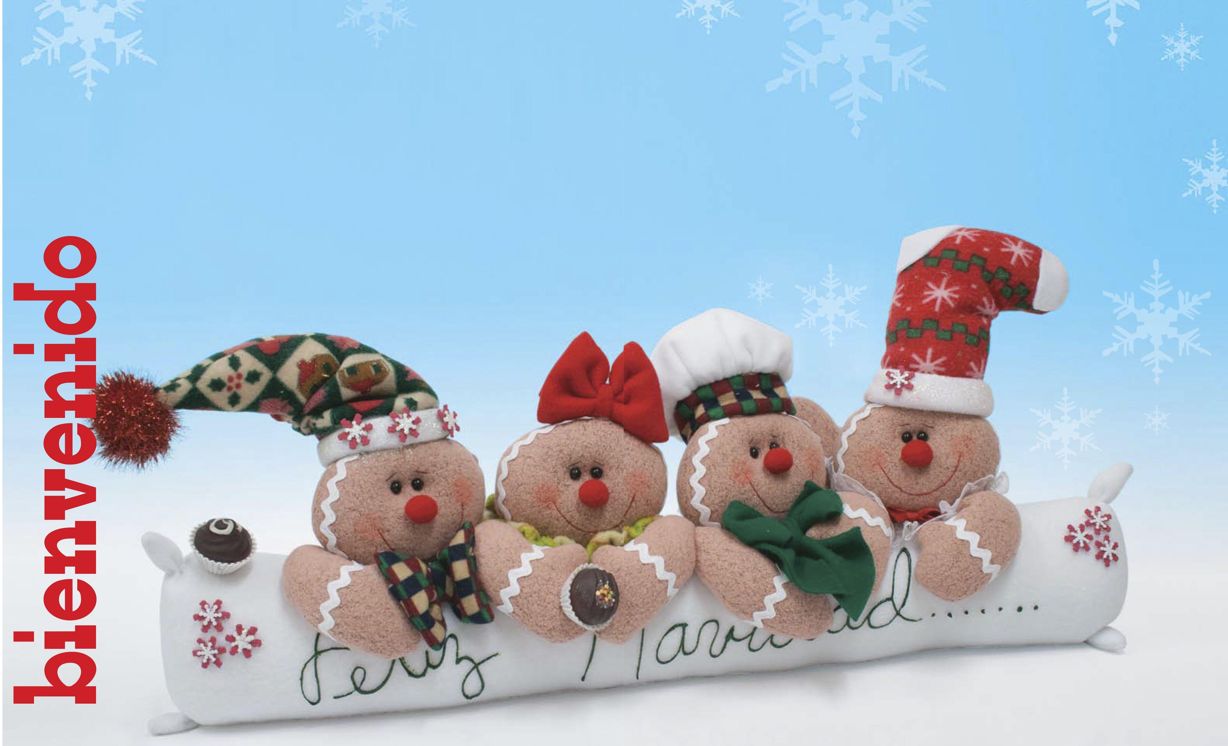 Moldes o patrones para elaborar hermosos muñecos navideños ALBUM 50 ...