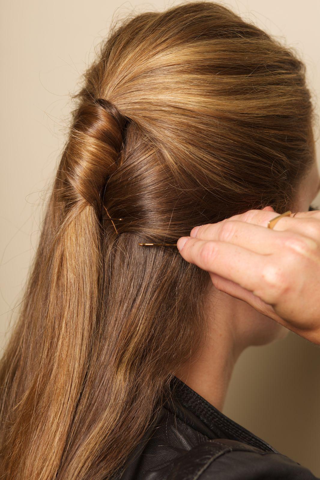 Half ponytail diy hair howto easy hairstyles half ponytail