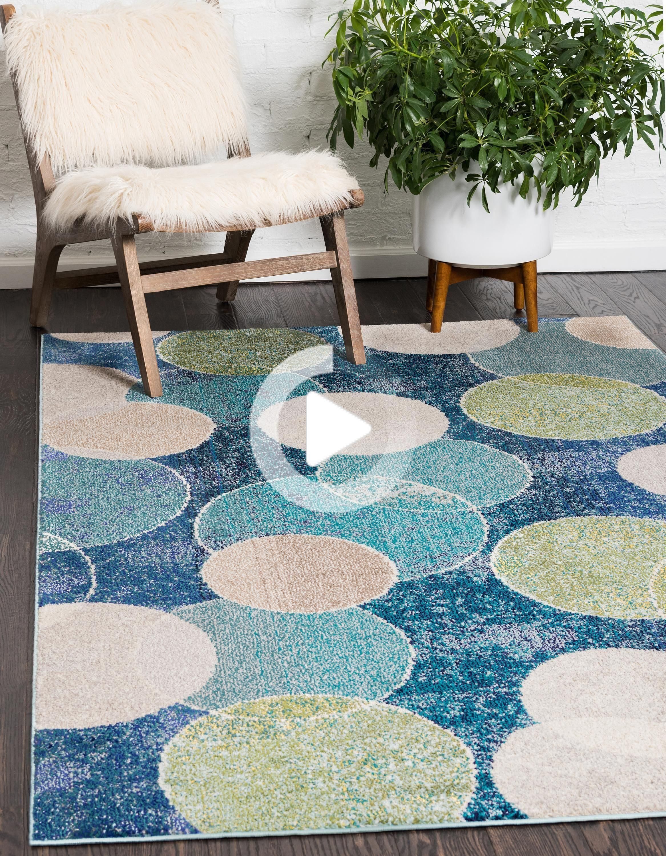 Otto Tapis Cercle Kreismuster Teppich Wohnzimmer Farbe