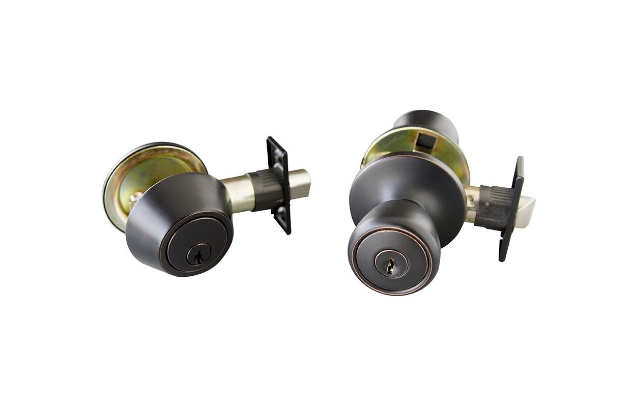 Oil rubbed bronze entry door knobs - Design House 728733 Terrace Reversible Keyed Entry Door Knob And Deadbolt Set Co Oil Rubbed Bronze