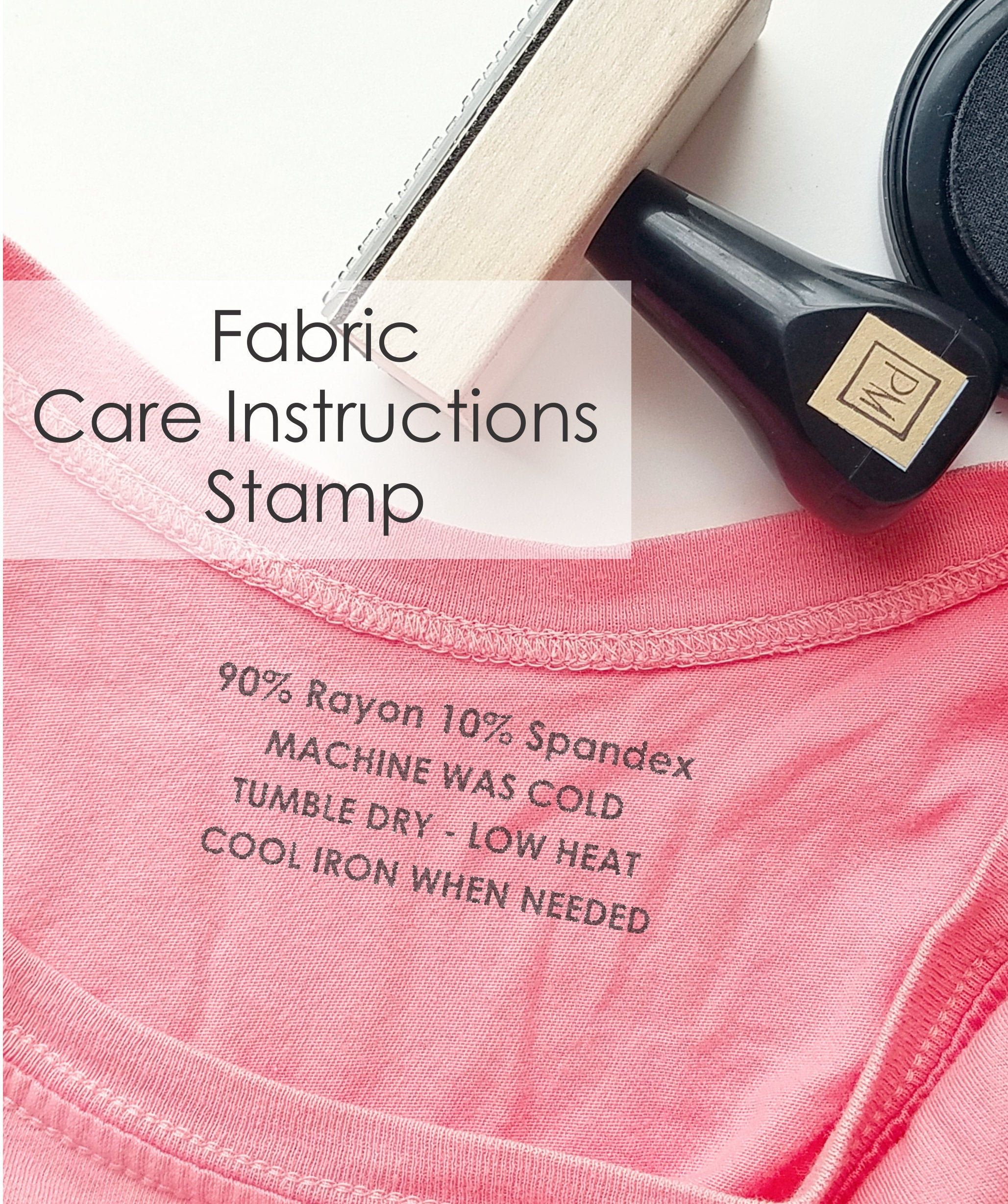 Washing Instruction Label Stamp Fabric Care Instructions