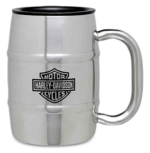 c67cbf8f2c1 HarleyDavidson Stainless Steel Barrel Coffee Travel Mug 17 oz Silver  9920316V * Read more at the image link. (This is an affiliate link)