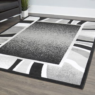 Amasa Black Gray Area Rug Area Rugs Rugs Rugs In Living Room