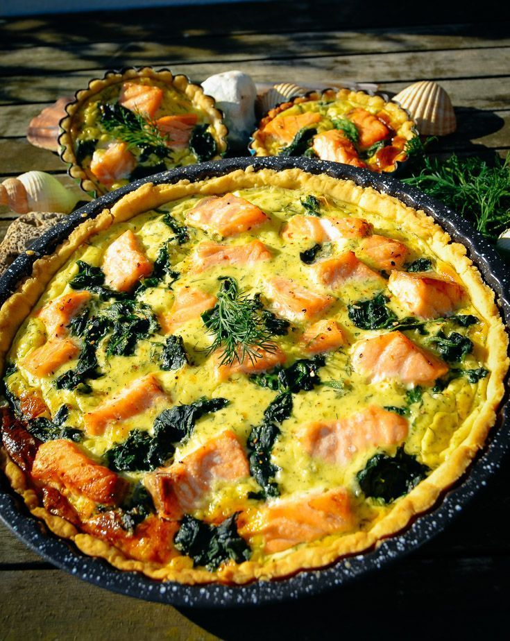 Quiche Rezept Lachs Quiche mit Spinat -
