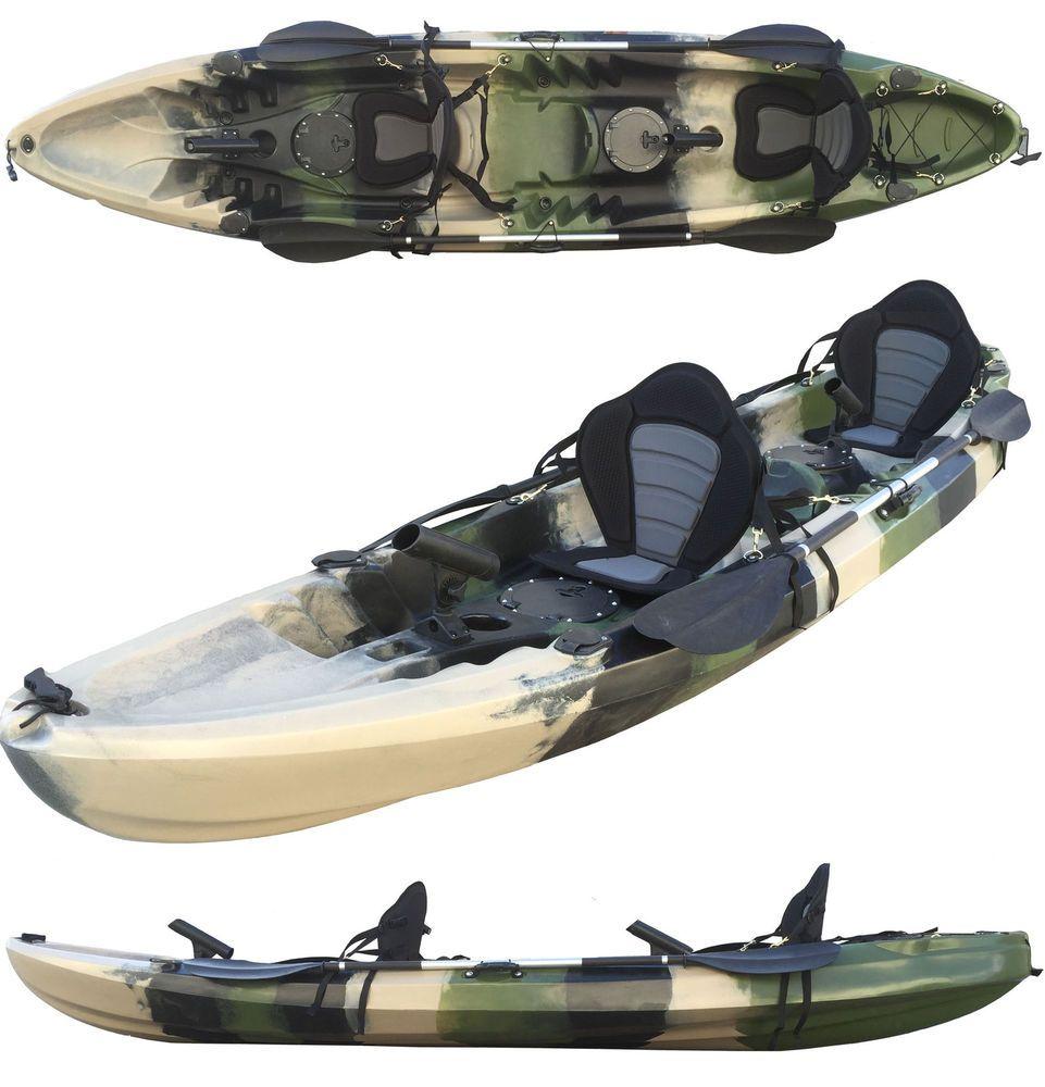 Vibe Kayaks Yellowfin 130t 13 Foot Tandem Sit On Top Kayak 2 Or 3