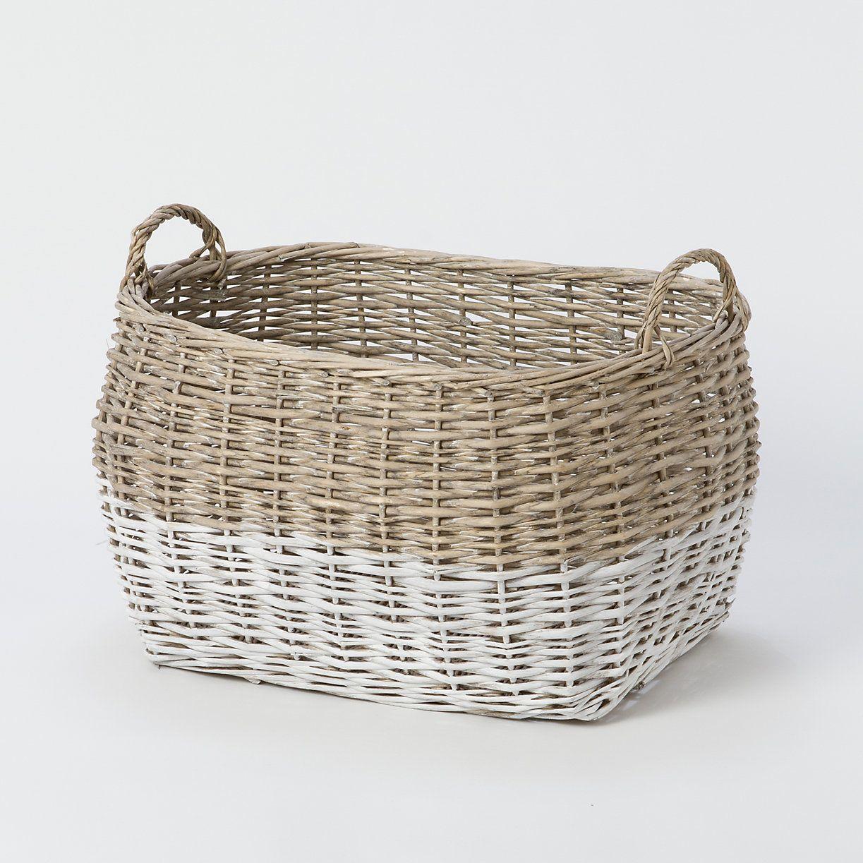 Terrain Home Decor: Colorblock Utility Basket, Large In House+Home HOME+DÉCOR
