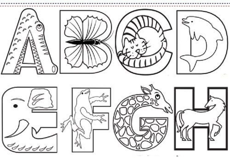 Animal Alphabet Coloring Pages Printable Alphabet Coloring Pages Animal Alphabet Alphabet Preschool