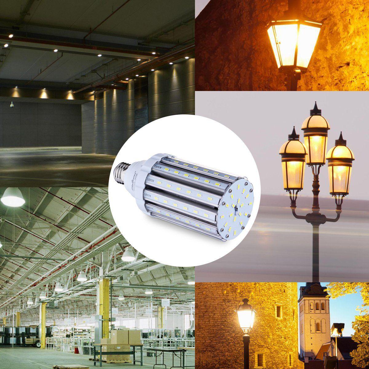 35w Daylight Led Corn Light Bulb For Indoor Outdoor Large Area E26 3500lm 6500k Cool Whitefor Street Lamp Post Lighting Garage Fac Saving Light Lamp Bulb Bulb
