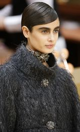 Creepy ken doll hair and makeup.  I kind of love it though...Chanel A/W  2015-2016