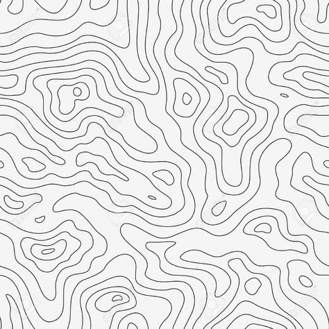 Vector - Topographic Map Seamless Pattern. Vector Background