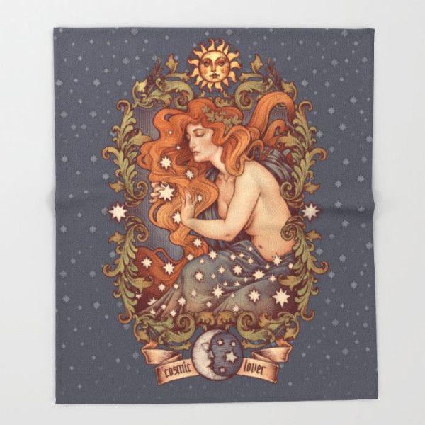 COSMIC LOVER throw blanket by Medusa Dollmaker