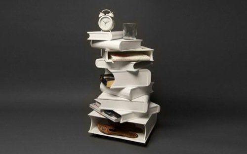 ein wundersch ner schlaf 10 coole kreative nachttische upcycling pinterest b cher. Black Bedroom Furniture Sets. Home Design Ideas