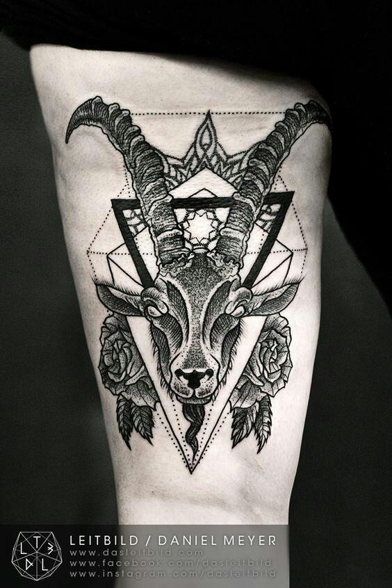 ac342ab56 Aries. Aries Horoscope Tattoos, Capricorn Tattoo, Zodiac Sign Tattoos, Black  Ink ...