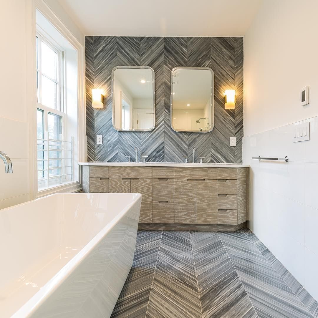 Shop This Instagram From Homesbydixon Chevron Tiles Bathroom