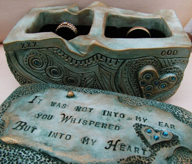 Wedding Ring Bearer Box with Swarovski Crystals