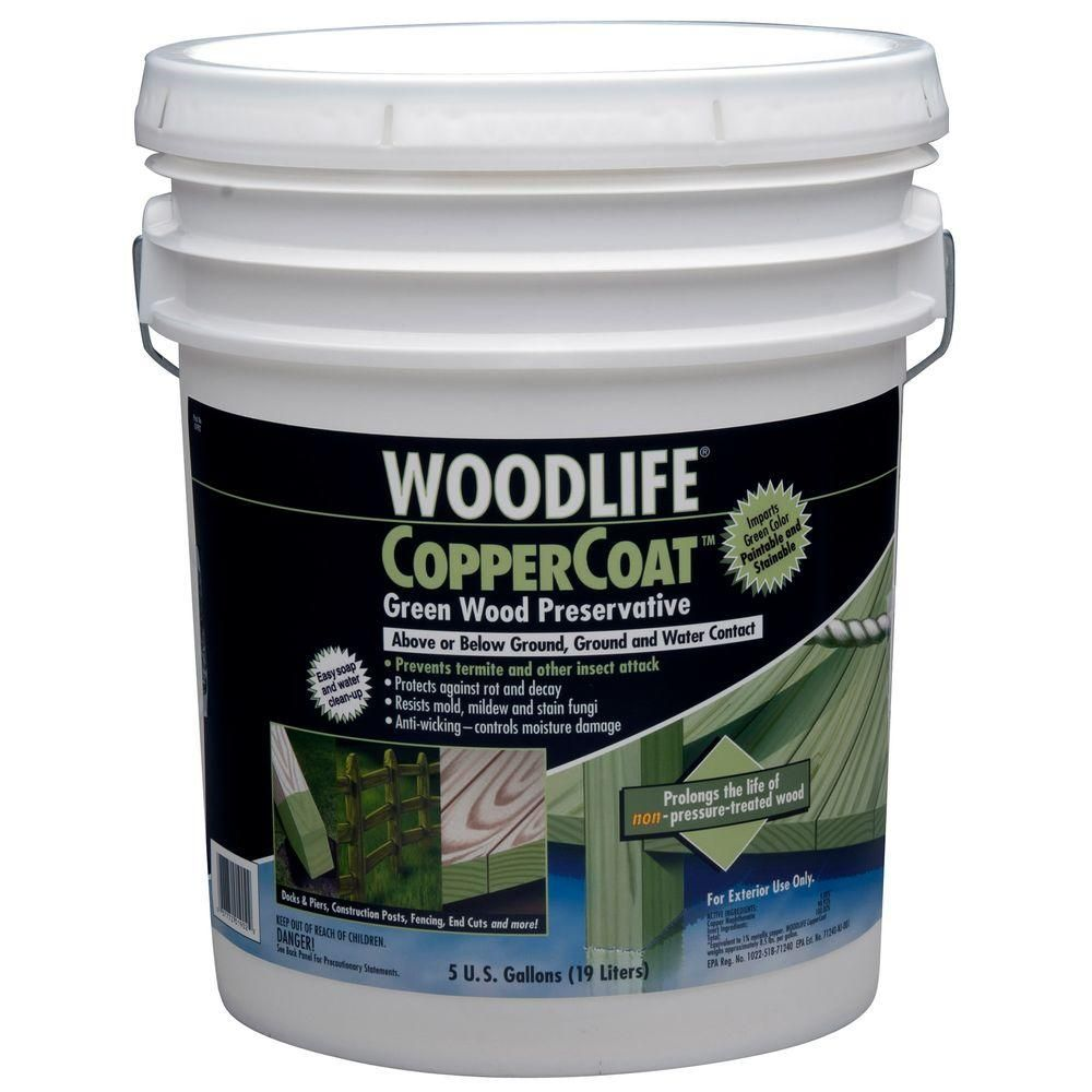 Wolman 5 Gal Coppercoat Green Below Ground Wood Preservative 1902a Wood Treatment Wood Exterior Wood Stain