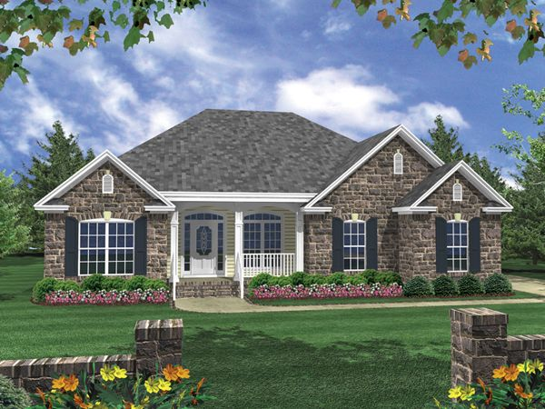 Duchamp Ranch Home Brick House Plans Brick Exterior House French Country House Plans