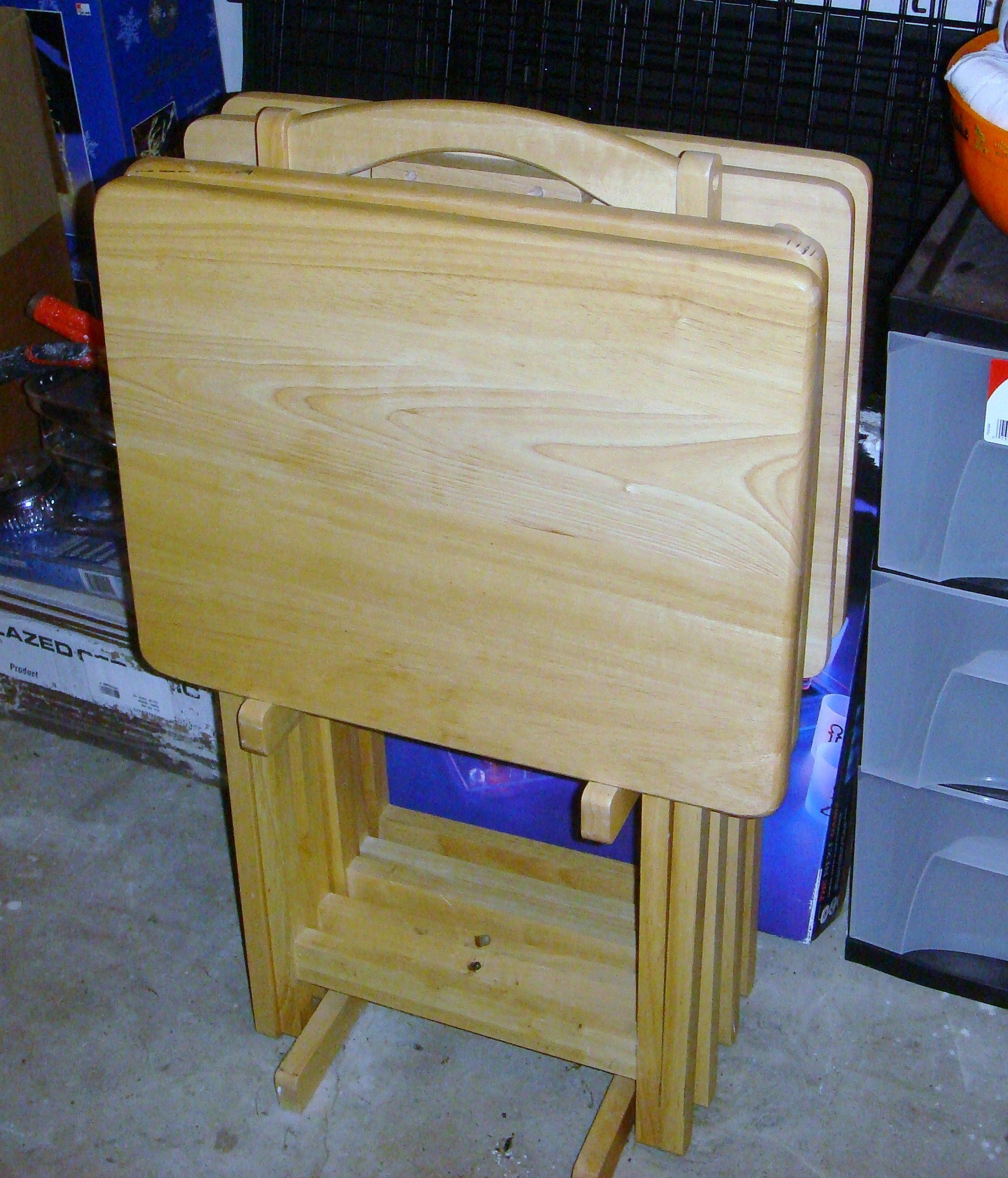 Set Of 4 Tv Trays In Dawn S Garage Sale Virginia Beach Va